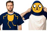 Adventure Time Jake Reversible Mask Costume Adult T-Shirt
