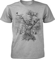 Metal Hand Tree Guitars Adult T-Shirt