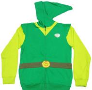 Nintendo Legend of Zelda Windwaker Link Zip-Up Adult Hoodie
