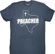 AMC Preacher Texas Outline Cross Distressed Logo Adult T-Shirt