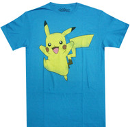 Pokemon Pikachu Jump Adult T-Shirt
