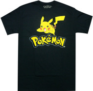 Pokemon Logo Pikachu Adult T-Shirt