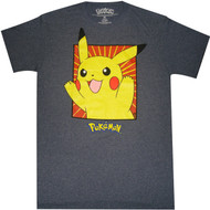 Pokemon Boxed Pikachu Adult T-Shirt