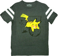 Pokemon Pikachu Saga Varsity Adult T-Shirt