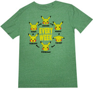 Pokemon Pika Week Adult T-Shirt