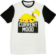 Pokemon Pikachu Current Mood Adult T-Shirt