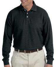 Chestnut Hill Men's Long Sleeve Performance Plus Piqu Polo