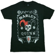Batman Harley Quinn Board Adult T-Shirt