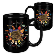 Famous C & W Country & Western Guitars - 15 Ounce Sublimation Mug