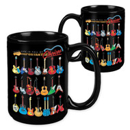 Life Is Full of Important Choices Guitar - 15 Ounce Sublimation Mug