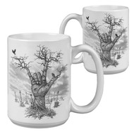 Metal Hand Guitar Tree - 15 Ounce Sublimation Mug