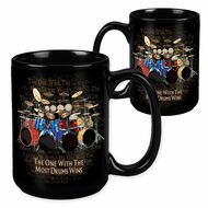 The One with the Most Drums Wins - 15 Ounce Sublimation Mug
