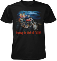 Someday The B*tch Will Fall Off Adult T-Shirt Adult T-Shirt