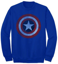 Marvel Captain America Star Shield Crew Fleece
