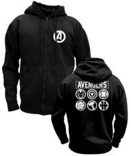 Marvel Avengers Assemble Logo Full Zip Fleece Hoodie