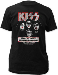 Kiss Distressed Rochester Dome Arena 1975 Adult T-Shirt