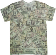 Cash Money Print Sublimated Adult T-Shirt