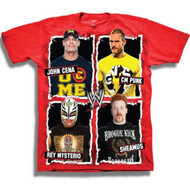 WWE Big 4 Faces Youth T-Shirt