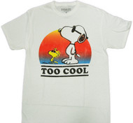 Peanuts Snoopy and Woodstock Too Cool Adult T-Shirt