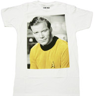 Star Trek Kirk Photo Adult T-Shirt