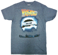 Back to the Future Blue Future Adult T-Shirt