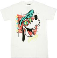 Disney Sunny Goofy 70s Retro Style Adult T-Shirt