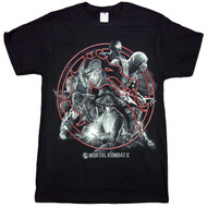Mortal Kombat Circular Montage Adult T-shirt