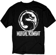 Mortal Kombat Chalk Logo Adult T-Shirt