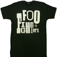 Foo Fighters Random Letters Logo Adult T-Shirt