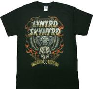 Lynyrd Skynyrd Motor Skull Adult T-Shirt