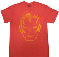 Marvel Ironman Face Adult T-Shirt