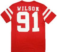 Marvel Comics Deadpool Wilson 91 Varsity Adult T-Shirt