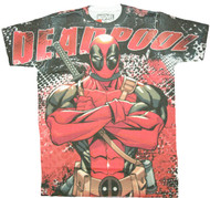 Marvel Deadpool Deadly Skills Adult T-Shirt