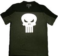 Marvel Comics Punisher Skull Logo Pieced Crew Adult T-Shirt