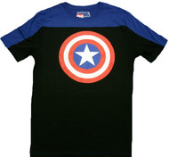 Marvel Comics Captain America Shield Football Crew Adult T-Shirt