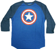 Marvel Captain America Star Shield Raglan Adult T-Shirt