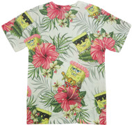 SpongeBob Squarepants Tropical Spongebob Adult T-Shirt