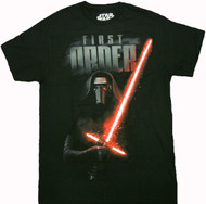 Star Wars Force Awakens - Kylo Ren Dark Saber Adult T-Shirt