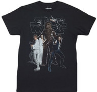 Star Wars Galaxy Han Luke Chewbacca The Gang Adult T-Shirt