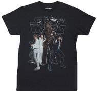Star Wars Galaxy Han Luke Chewbacca The Gang Adult T-Shirt