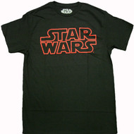 Star Wars Red Logo Adult T-Shirt