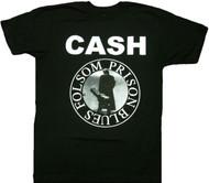 Johnny Cash Folsom Prison Seal Adult T-Shirt