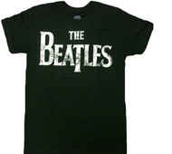 The Beatles - Distressed Vintage Logo Adult T-Shirt