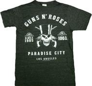 Guns N Roses Skeleton L.A. Label Vintage Adult T-Shirt