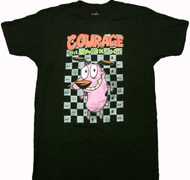 Cartoon Network - Courage the Cowardly Dog Check Adult T-Shirt