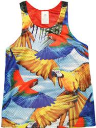 Flying Parrot Print Tank Top