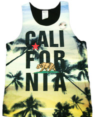 California Bear Graphic Tank Top