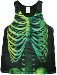 Skeleton Print Tank Top