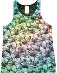 Flowers Leaves Print Tank Top