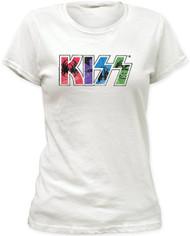 Kiss Kawaii Logo Junior's Fitted T-Shirt